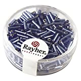 Rayher 1406508 Glasstifte, 7/2 mm, mit Silbereinzug, Dose 15g, h.blau