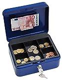 Wedo 14520 - Caja para dinero (20 x 16 x 9 cm, 5 compartimentos), color azul