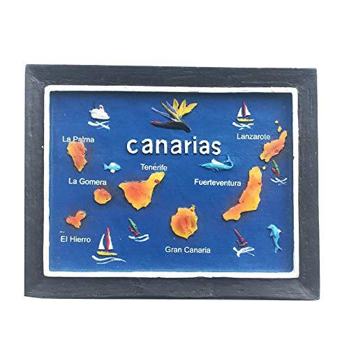 Calamita da frigorifero con faro 3D Canarias Spagna, regalo per souvenir, decorazione per casa e...