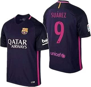 JiumeiA 2015-2016 Barcelona Suaeez 9# Soccer Jersey for Youth/Kids