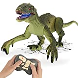 GILOBABY Remote Control Dinosaur Toys with Light and Sound 2.4Ghz RC Simulation Walking Dinosaur...