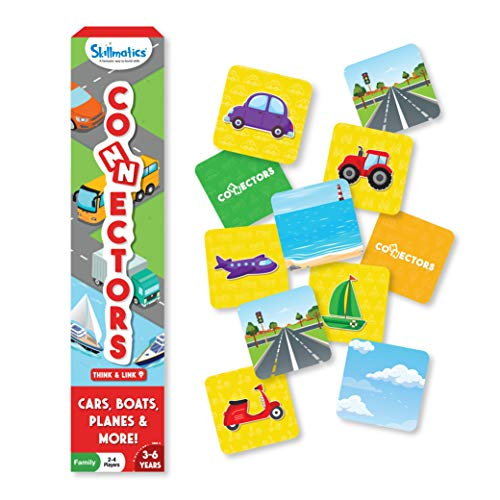 Skillmatics Educational Game : Connectors Cars, Boats, Planes & More | Fun & Fast Family Game of Connections | Gifts for Boys and Girls Ages 3 to 6