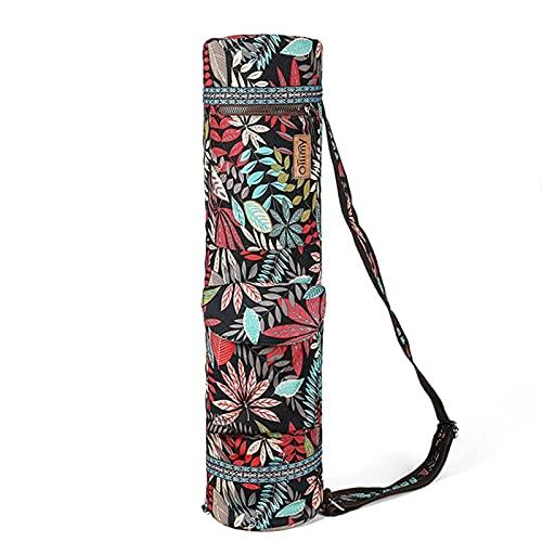 DHDHWL Bolsa Colchoneta Yoga 72 * 18 * 18cm Yoga Mat Bag Bolsa Fitness Mat Bag Impresión Pilates Matchpack Deportes Fitness Danza Gimnasia Mat Funda Portátil (Color : Red)