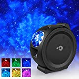 Night Light Projector, 3 - 1 LED Star Projector Moon and Star Lights, with Voice Control, 6 Lighting Effects, 360-Degree Rotating Sky Star Stage light Best for Children&Adults Bedroom and Party Dec