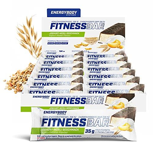 """Energybody Fitness Bar """"Joghurt-Müsli"""" 24x 35 g / Energie-Riegel mit Proteinen & Kohlenhydraten / energiespendender Fitness-Riegel als Sport Riegel / Power Riegel für zwischendurch"""