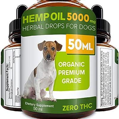 STRELLALAB Hemp Oil for Dogs - 50ml - 5000 MG Made in UK Hemp Extract - Pure Premium Grade - Omega-3, 6