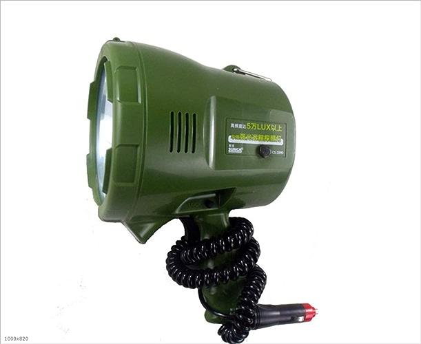 BUTHRONE Projecteur, 75W 12V Handheld Xenon Light HID Xenon Chasse Chasse en Plein Air Pêche Sauvage Projecteur 24V Marine Voiture Lumière 1000M Recherche Distance