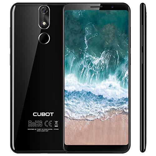 Cubot Power 4G-LTE Dual SIM Smartphone ohne Vertrag, 5.99 Zoll (18: 9) FHD+ Touch Display mit 6000 mAh Akku, 6GB Ram+128GB Rom, 20MP Hauptkamera/13MP Frontkamera, Android 8.1 2.5GHz Octa-Core,Schwarz
