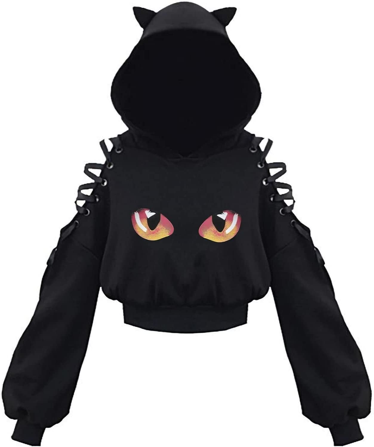 Spring new work one after another Gifts FENGYKE Ladies Clothes Gothic Women Cat Ear Women's L Sweatshirt
