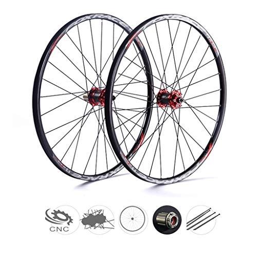 ZNND 27.5 Pulgadas Bicicleta De Montaña, Ultraligero Fibra De Carbon MTB V-Brake Híbrido 24 Hoyos Dto 7 8 9 10 Velocidad 100mm (Color : C, Tamaño : 27.5inch)