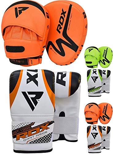 RDX Handpratzen Boxen Pads Boxhandschuhe Box Pads Mitts Boxsack Boxpratzen Kampfsport MMA Training Muay Thai Schlagpolster Kickboxen Schlagkissen Sparring Sandsack Haken und Jab Pads (MEHRWEG)