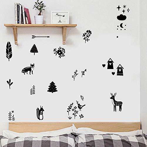 Cooldeer Forest, klein, dieren, woonkamer, slaapkamer, kinderkamer, school, Materna, achtergrondfoto, wanddecoratie