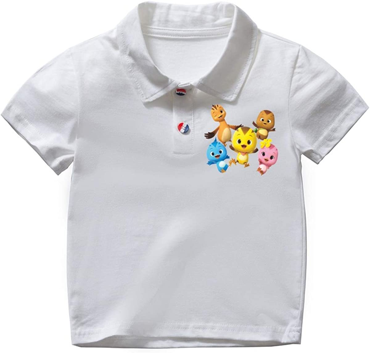 Fashion-zone Chick Chicken Summer Casual T-Shirts for Boys Girls Toddler Short-Sleeve Polo Shirt