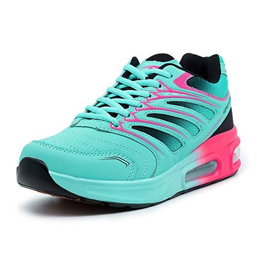 LEKANN 332 - Zapatillas de deporte para mujer, con amortiguación, color Turquesa, talla 36 EU