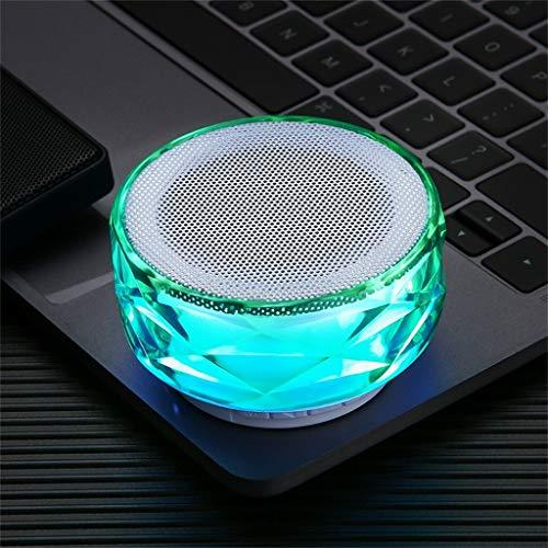 Hancoc Verde HIFI portátil 288 luces LED inalámbrico Bluetooth altavoz sonido estéreo subwoofer columnas
