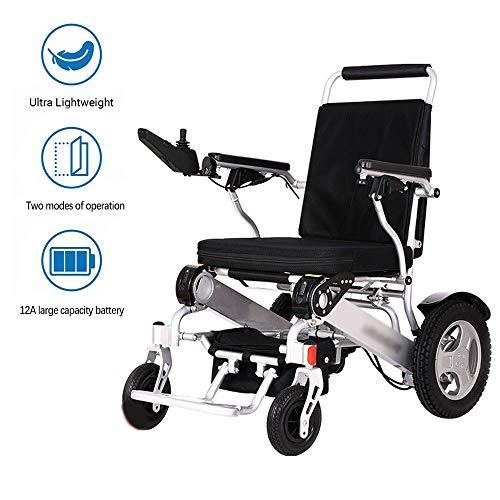 BBJZQ Elektrischer Rollstuhl-Faltbarer Kann 25 Km Fahren Ultraleichter Elektrorollstuhl Drahtlose Steuerung Wiegt Nur 25kg(12a Lithiumbatterie) geeignet Für ältere Und Behinderte Menschen