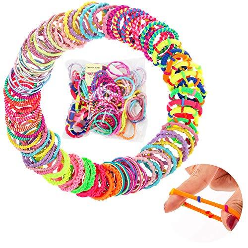 Wisetop 100 unids peinado elástico cola de caballo pelo suave bubble tie pony place banda de goma accesorios para el cabello cola de caballo niños niñas mujeres