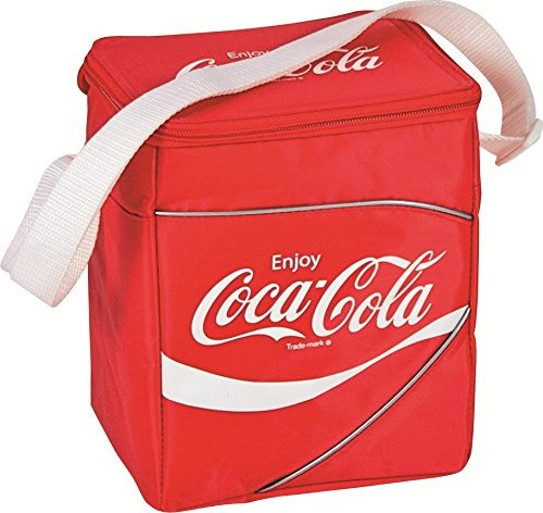 EZetil Coca-Cola Classic, passive Kühltasche zur Kühlung von Lebensmitteln, faltbar, für Camping / Picknick / Reisen / Einkauf, Rot