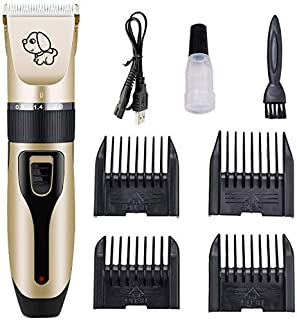 Mumoo Bear Dog Shaver Clippers Low Noise Rechargeable Cordless Electric Quiet Hair Clippers Set for Dogs Cats Pets