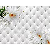 Papel Pintado Fotográfico Flores 396 x 280 cm Tipo Fleece no-trenzado Salón...