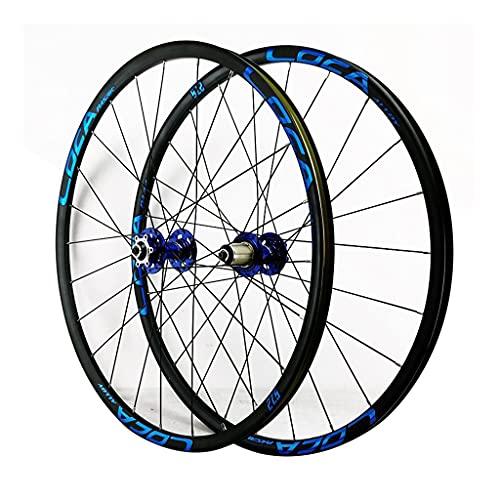 LICHUXIN QR 26/27.5/29 Inch Rear Wheel Quick Release 7/8/9/10/11/12 Speed Freewheel Hybrid/Mountain Bike Rim 24H Disc Brake for Bike Parts (Color : Blue, Size : 29in)