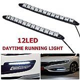 MASO 2 x 12 LED Correr luces coche DRL daylight niebla lámpara impermeable 12 V conducción cabeza luces blanco