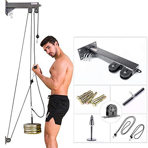 HXwsa Rope Pull-Down-System, Workout-Maschine Wand- Kabelzug-System mit Ladepins für LAT Pull-Down, Trizeps und AB Pulldowns, Bizepscurl