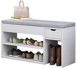 L.BAN Banc de Rangement pour Chaussures Banc de Rangement pour Organisation de Rangement pour Chaussures pour entrée avec ...