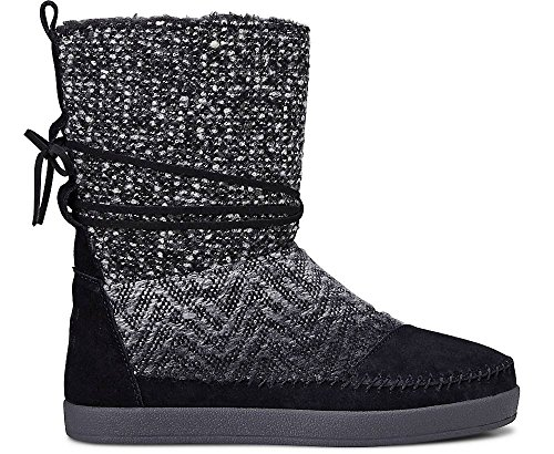 TOMS Womens Nepal Boot Black Suede Textile 37