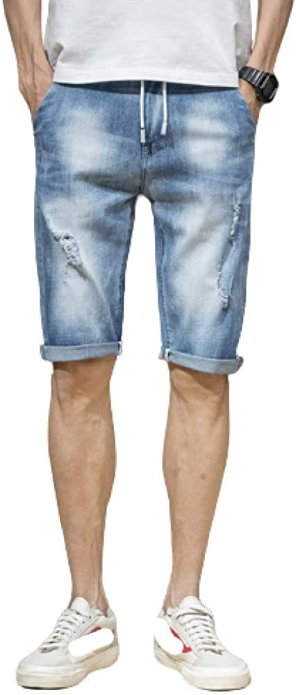 Men's Jeans Summer Shorts Casual Korean Wild Endurance Thin Section Solid