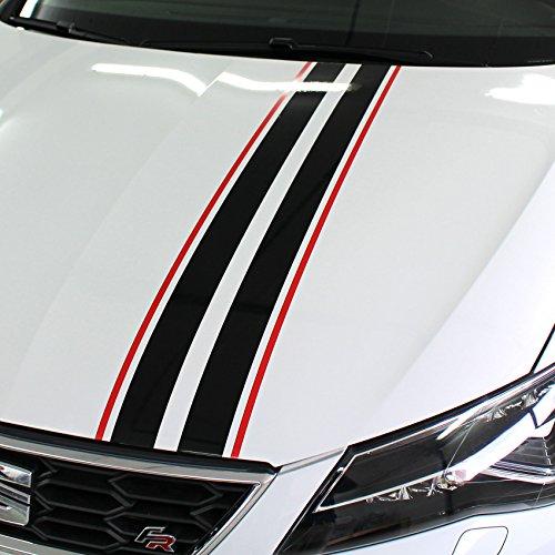 Finest Folia Auto Rallystreifen 4,5 Meter x 19 cm Ralleystreifen Aufkleber Viperstreifen Seitenstreifen Rennstreifen Wohnmobil (CDX145 4,5Meter x 19cm)