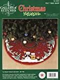 Bucilla Christmas Felt Tree Skirt Applique Kit, A Teddy Bear Winter, 36' round, 33051