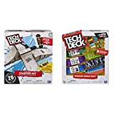 Tech Deck - Starter Kit - Ramp Set with Exclusive Board and Trainer Clips & Sk8shop Fingerboard Bonus Pack, Collectible and Customizable Mini Skateboards (Styles May Vary)