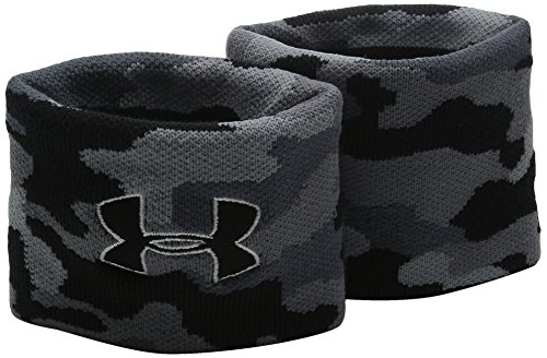 Under Armour Fitness Schweissband Hand UA Jacquard Wristband, Black, One Size