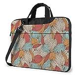 Bolsa de hombro para portátil – Bee & Girasoles impreso a prueba de golpes impermeable portátil hombro mochila bolsa maletín