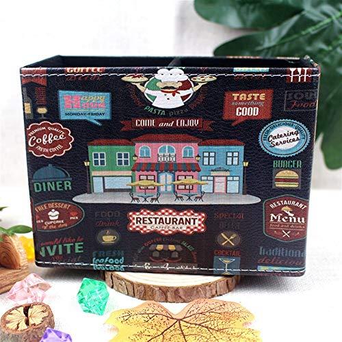 Goquik Europese Flamingo Pen Box Creatieve Huishoudelijke goederen Bureau Pen Houder Stationery Afstandsbediening Lederen Opbergdoos 15.5cmX11.2cmX7cm