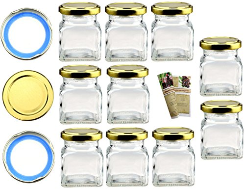 Flaschendiscount 40 leere eckige Einmachgläser