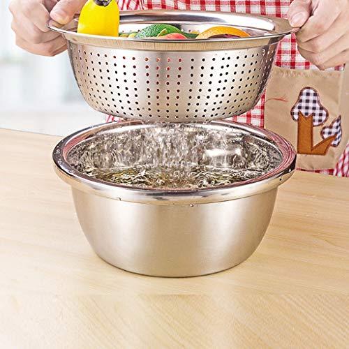 Kfdzsw Centrifuga per Insalata 1pc, Filtro in Acciaio Inox Collapasta Cucina Insalata di Riso Insalata di Riso Insalata 4 Taglie (Size : 32cm)
