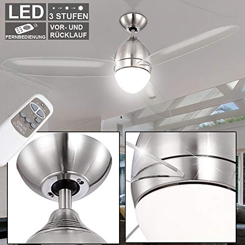 etc-shop 14 Watt LED Design Decken Ventilator Lampe 3-Stufen kühlen wärmen Fernbedienung