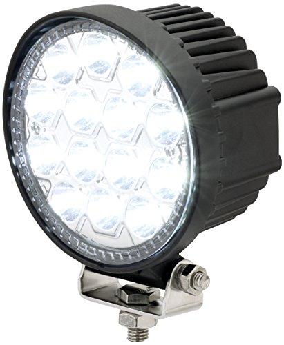 AdLuminis LED Arbeitsscheinwerfer Rund, 42 Watt 1950 Lumen, EPISTAR Chips, Für 12V 24V, Mega Spot Beleuchtung 8°, IP67 Schutzklasse, 6000K, Zusatzscheinwerfer, Rückfahrscheinwerfer, Suchscheinwerfer