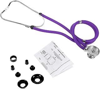WanXingY Equipo de atención médica médica Profesional Equipo de atención médica Púrpura Doble Cabeza Colorido Estetoscopio Multifuncional (Color : Purple)