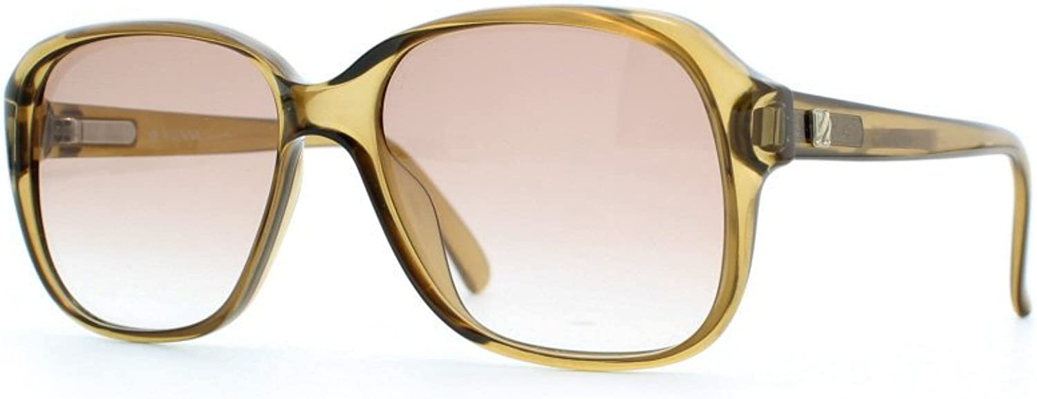 Vienna Line 1348 10 Brown Certified Vintage Rectangular Sunglasses For Womens