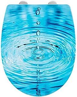 WC Sitz blau mit Wassertropfen