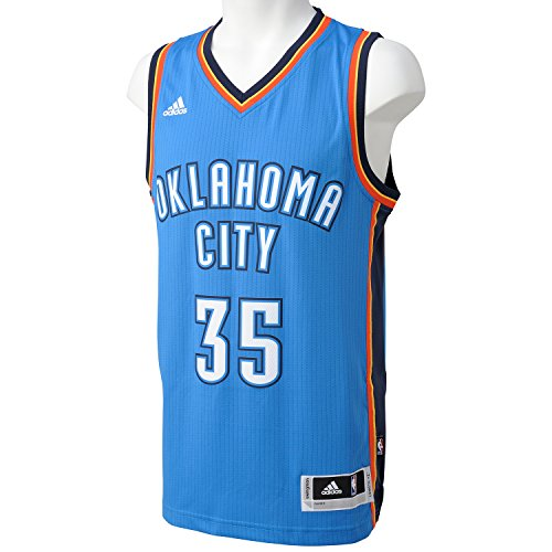 adidas Herren Basketball Oklahoma City Thunder Swingman Trikot, Weiß/Blau, S, A46194