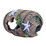 Boder Adorno de paisajismo del Tanque de Peces decoración de Barril de Vino simulado decoración del Acuario Refugio de Pescado de Resina Stunning