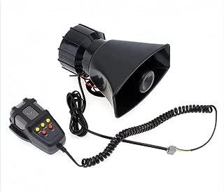 Enshey 12V 100W Car Alarm 5 Tone Loud Security Alarm Car Horn Siren Warning Alarm for Cars Vans Trucks Motorcycles Boats Police Firemen Ambulance Loud Speaker