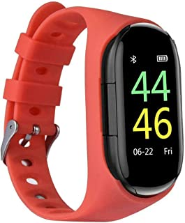 M1 2 in 1 Smart Bracelet Wireless Bluetooth Headset Combo Running Music Wristband Earphone Heart Rate Blood Pressure Fitne...