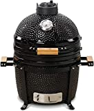 Kamado Bono Minimo 15' Barbecue-Affumicatore in Ceramica con Sistema Dual Zone