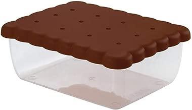 Snips 077120 Rectangular Biscuit Saver, Brown/Clear