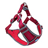 ThinkPet Escape-Proof Step in Dog Harness - No Pull Breathable Reflective Padded Comfortable Halter Adjustable Harness Large Red